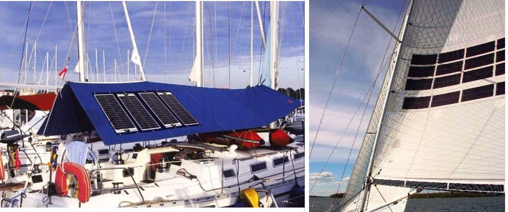 sail covers solar panel