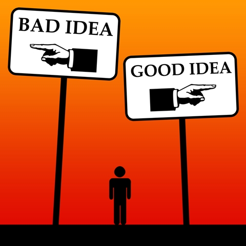 good idea-bad-idea dreamstimemedium 28973031