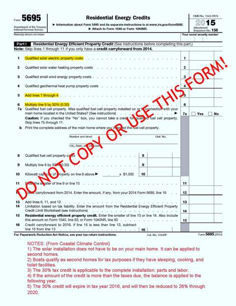 IRS Form 5695 2015 Pg 1